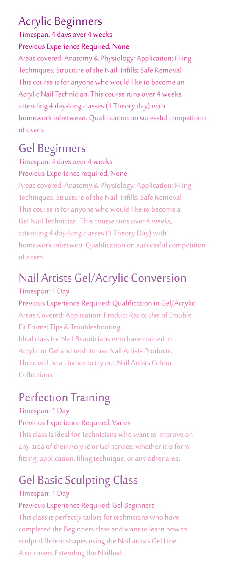 Nail Artists Scotland Courses